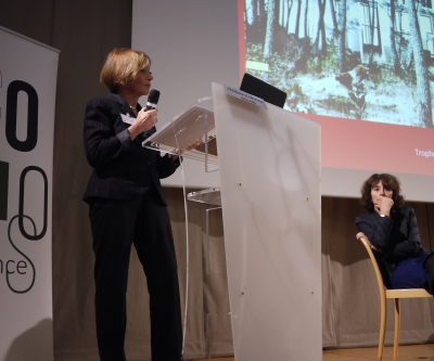Christiane Schmückle-Mollard, ACMH, & Christine Desmoulins, journaliste (24.nov.) ©ICOMOS France